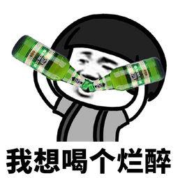 【我想喝个烂醉表情包_喝酒系列微信QQ表情包】